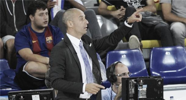 Vadillo en el encuentro ante el Barcelona | Foto: LNFS