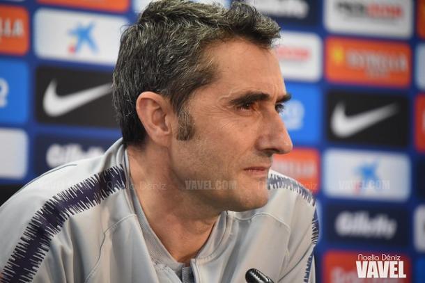 Imagen de Ernesto Valverde en rueda de prensa. FOTO: Noelia Déniz
