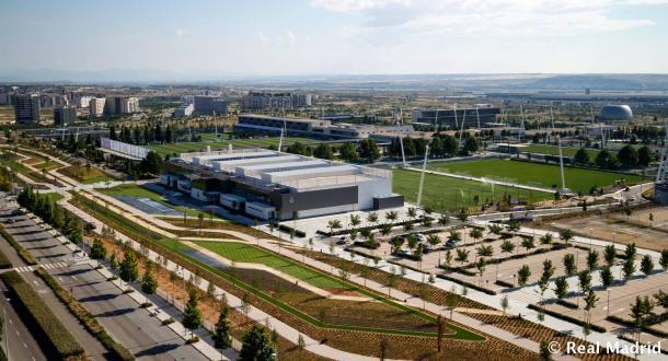 La Ciudad Deportiva del Real Madrid desde el aire. Foto: Real Madrid.