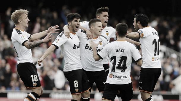 El Valencia busca recuperar la senda de la victoria en Mestalla./ Foto: Valencia CF