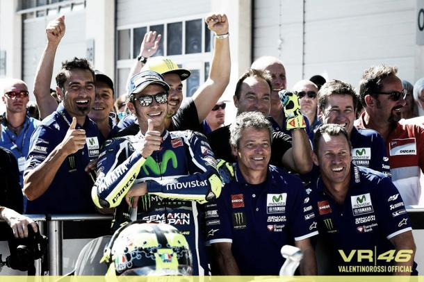 Rossi takes a spectacular second position | Photo: Facebook