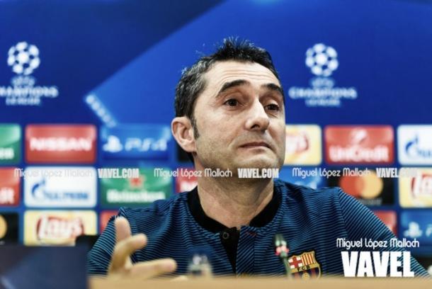 Valverde, en rueda de prensa | Foto: Miguel López - VAVEL