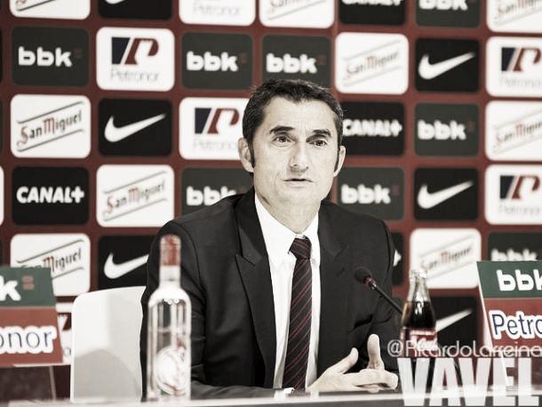Valverde, en una imagen de archivo durante una rueda de prensa | Fotografía: Ricardo Larreina / VAVEL