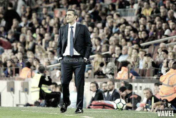 Valverde durante un partido de esta temporada / Fuente: Getty Images