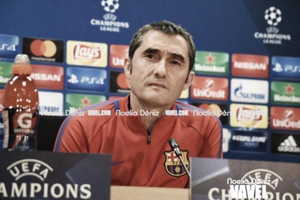 Ernesto Valverde en rueda de prensa previa a Champions League | Foto: Noelia Déniz, VAVEL