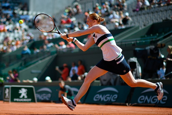 Van Uytvanck was unable to live with Radwanska in the final two sets (Photo by Eric Feferberg / Getty)