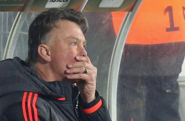 Louis van Gaal watches on as his side lose to FC Midtjylland