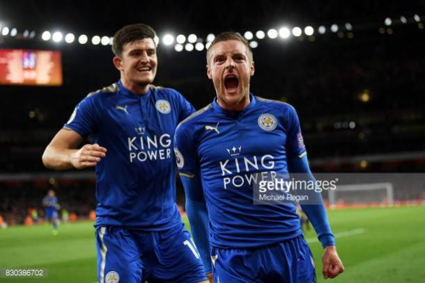 Jamie Vardy scored two brilliant goals away at Arsenal.