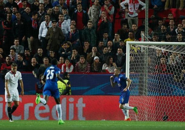 Vardy fez o golo que ainda  faz sonhar os ingleses | Foto: MaisFutebol