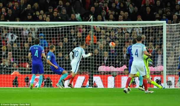 Vardy swept home the opener (photo: Kevin Quigley)