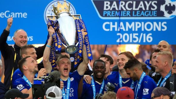 Jamie Vardy scored 24 Premier League goals as Leicester secured an unimaginable title. Source: ITV