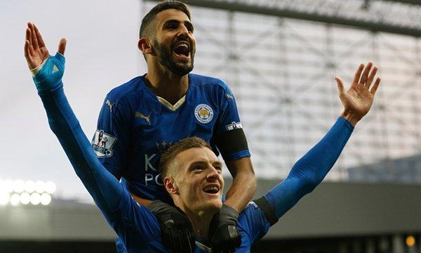Vardy and Mahrez celebrate (photo: getty)