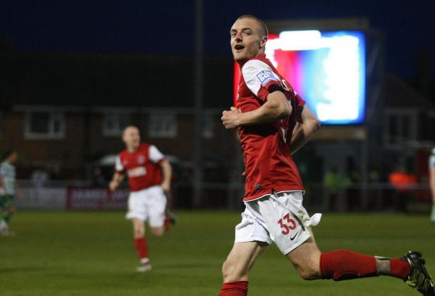 Jamie Vardy durante un partido con el Fleetwood Town | Foto: BBC
