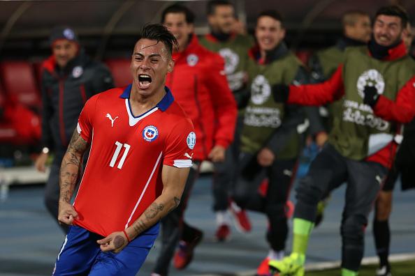 Ao lado de Guerrero, Vargas foi o artilheiro da última Copa América (Foto: Daniel Jayo/STR)