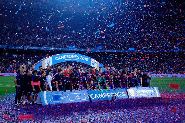 O Barça já tem a Supercopa da Espanha, nesta temporada (Foto: Getty Images)