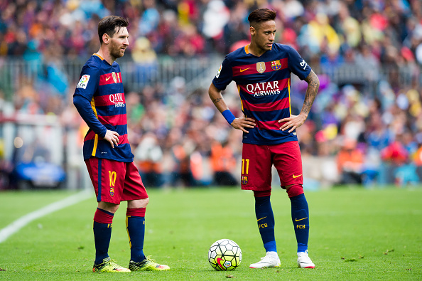 Neymar e Messi: dois dos protagonistas do Barcelona (Foto: Getty Images)