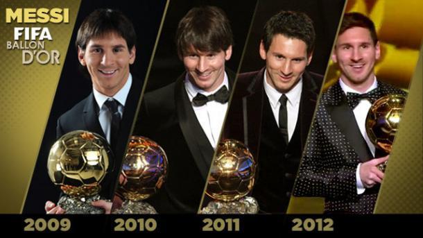 Messi recogiendo todos los Balomes