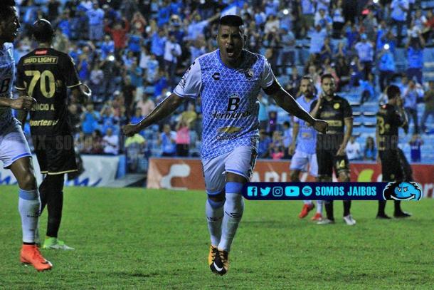 Los goles del 'Hachita' fueron fundamentales para que la Jaiba Brava mantuviera la categoría | Foto: Somos Jaibos