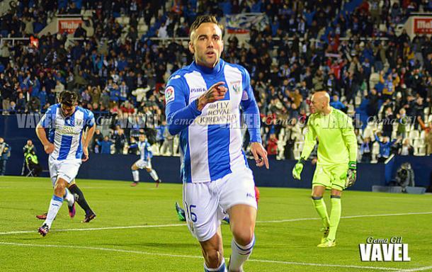 Rober Ibáñez celebra un gol | Foto: Gema Gil (CD Leganés)