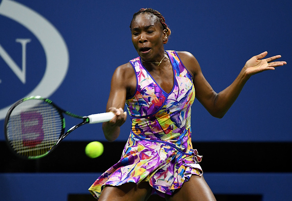 Williams competing in the Arthur Ashe Stadium (Photo by Alex Goodlett / Getty Images)
