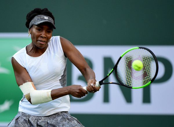 Williams' heavily strapped elbow could be the decisive factor in this contest (Photo by Harry How / Getty Images)