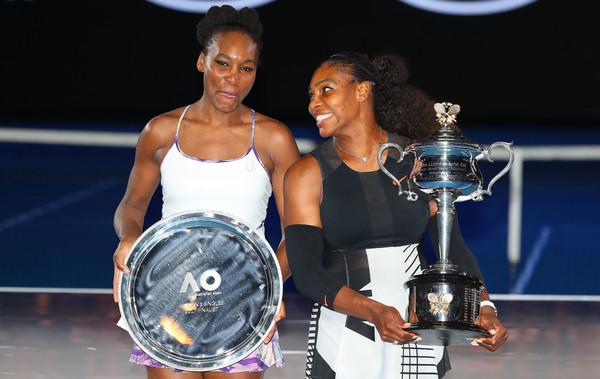 Venus (left) competed in her first Grand Slam singles final since Wimbledon in 2009 when she lost to her sister (right) (Photo by Scott Barbour / Getty)