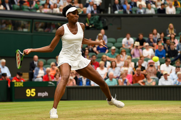 The five-time Wimbledon champion will need to serve well in order to beat Konta (Photo by Shaun Botterill / Getty)