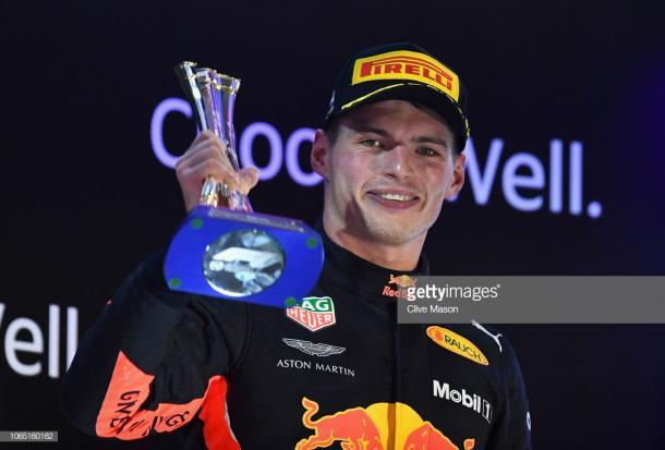 Verstappen acabó la temporada con un podio en Abu Dhabi. Foto: Getty Images.