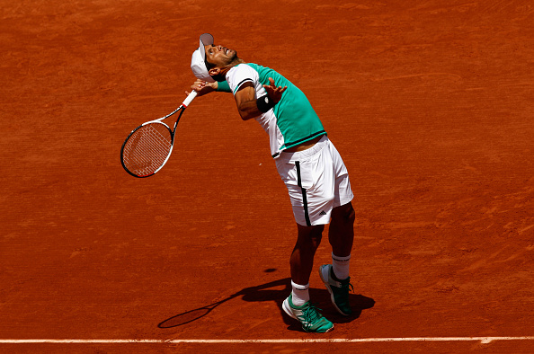 The Spaniard could have led by two sets to love, had he taken his chances (Photo by Adam Pretty / Getty)