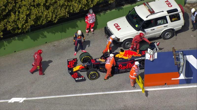 Abandono de Verstappen. Foto: F1
