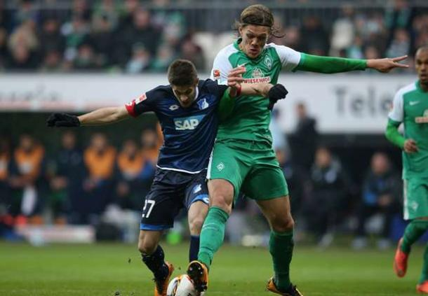 Vestergaard vies for the ball against Kramarić and former side Hoffenheim | Photo: Goal