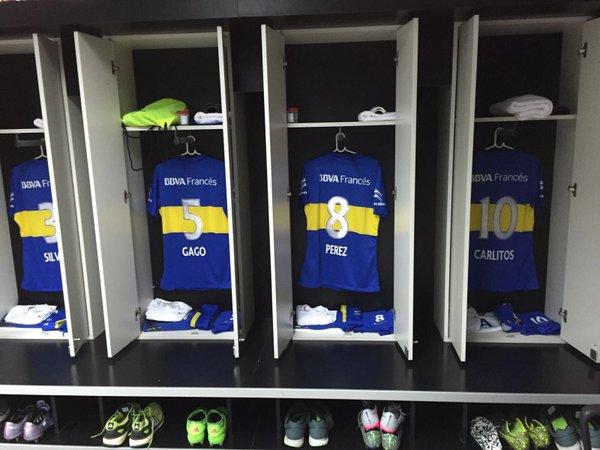 El vestuario Xeneize luce en perfectas condiciones | Foto: Twitter Oficial Boca Juniors