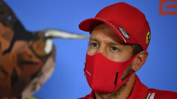 Sebastian Vettel en la rueda de prensa del GP de Austria 2020 / Fuente: F1