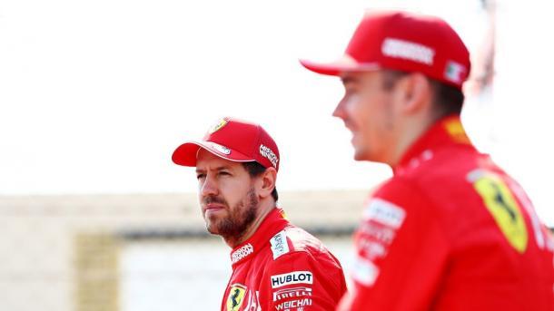 Vettel y Leclerc. Foto: F1