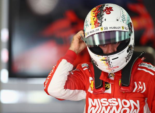 Sebastian Vettel durante el Gran Premio de Japón | Fuente: Getty Images