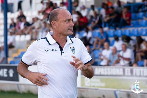 Vicente Mir, entrenador del CD Alcoyano | Foto: CD Alcoyano - Silvia Calatayud