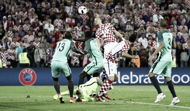 Croatia's set-pieces were unable to see them through on the night. (Photo: UEFA.com)