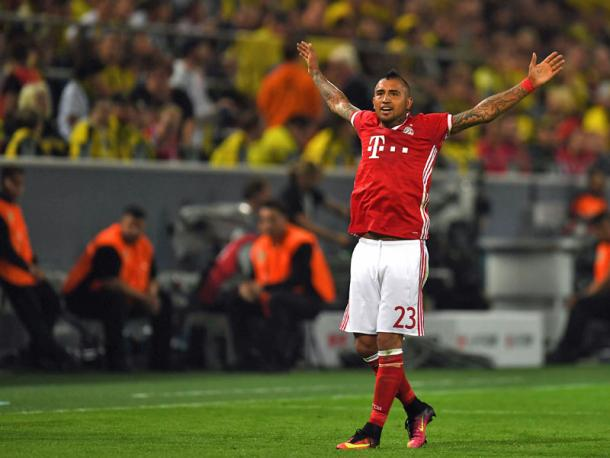 Vidal celebrates giving Bayern the lead | Photo: Getty