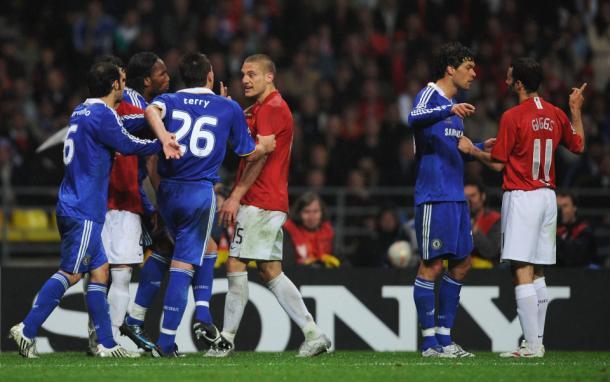Bronca durante el partido. Foto: @ChelseaFC