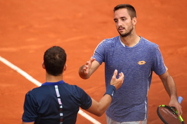 Viktor Troicki from Serbia was just too strong in the end for the young Bulgarian and he proceeds to the second round  (where he will face his compatriot, Dusan Lajovic (Credit: Clive Brunskill; getty images.