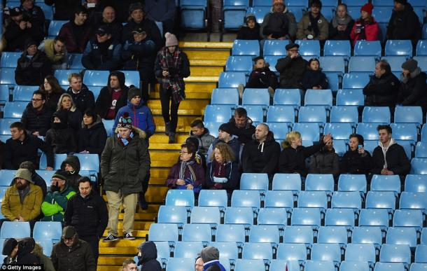 Villa fans poured out of the stadium after Lukaku's goal (photo: Getty Images)