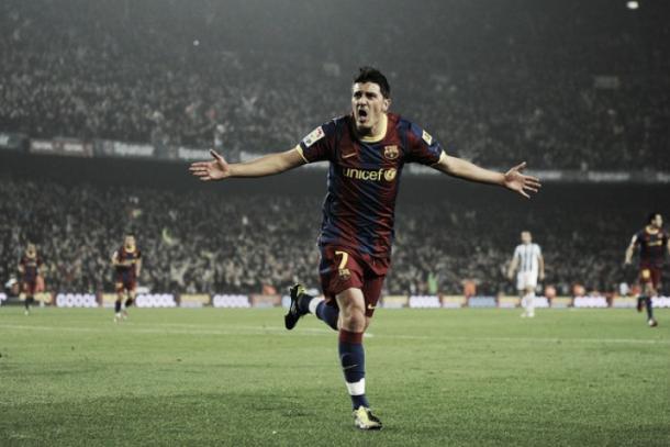 Villa en el Camp Nou. | Fpto: FC Barcelona