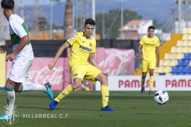 Iván Morante disputando un encuentro con la elástica del Villarreal CF | Foto: Villarreal CF