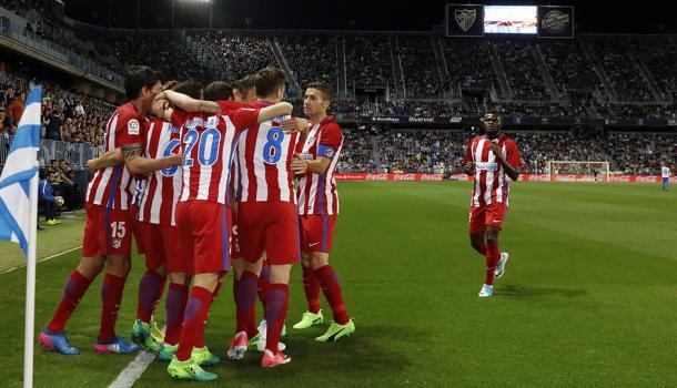 L'Atletico sale al terzo posto: sconfitto il Malaga 2-0 alla Rosaleda