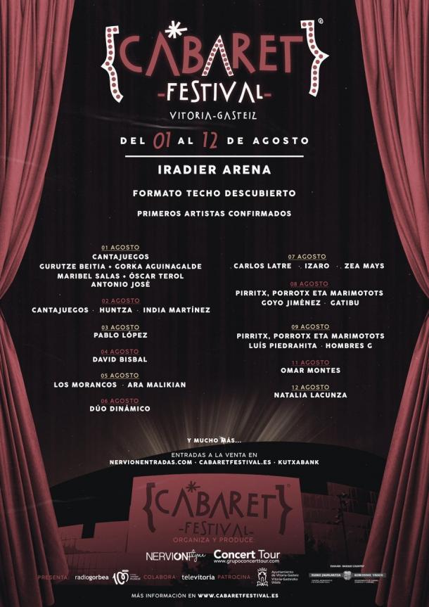 Cartel Cabaret festival Vitoria // fuente: cabaret festival (instagram)