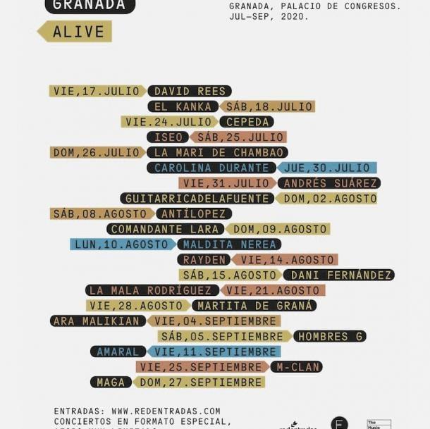 Cartel Granada Alive // Fuente: Viva la vida festival