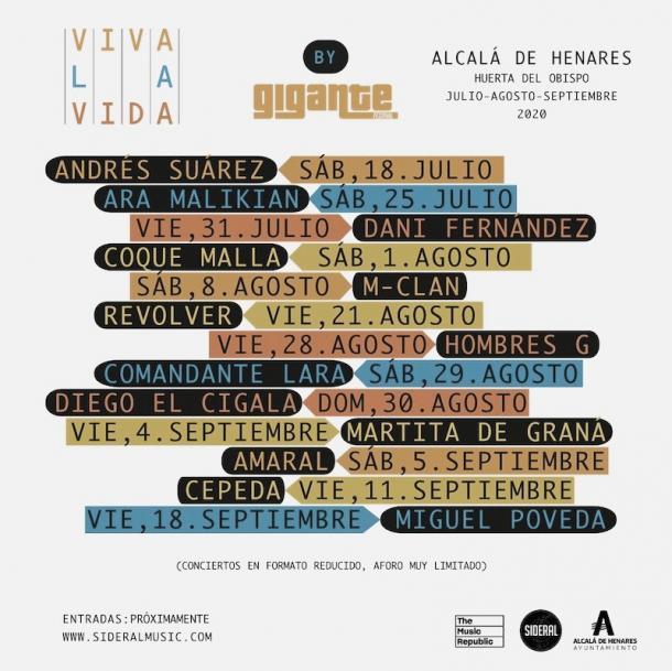 Cartel Alcalá es Vida// Fuente: Viva la vida festival (instagram)