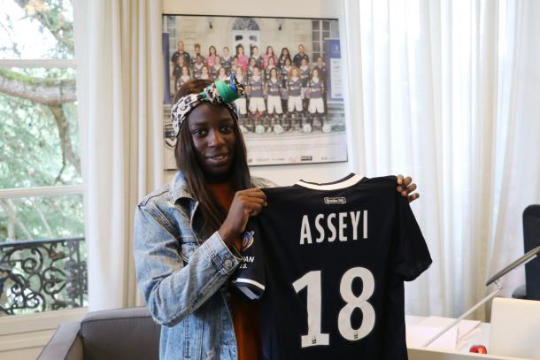 Viviane Asseyi will look to re-ignite Bordeaux's attack | Source: girondins.com