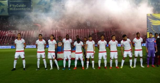 La nómina que enfrentó el último partido de Santa Fe en 2019. Imagen: Independiente Santa Fe.
