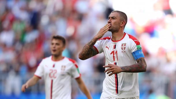 Aleksandar Kolarov celebrates his stunning goal | Source: Getty Images via FIFA.com